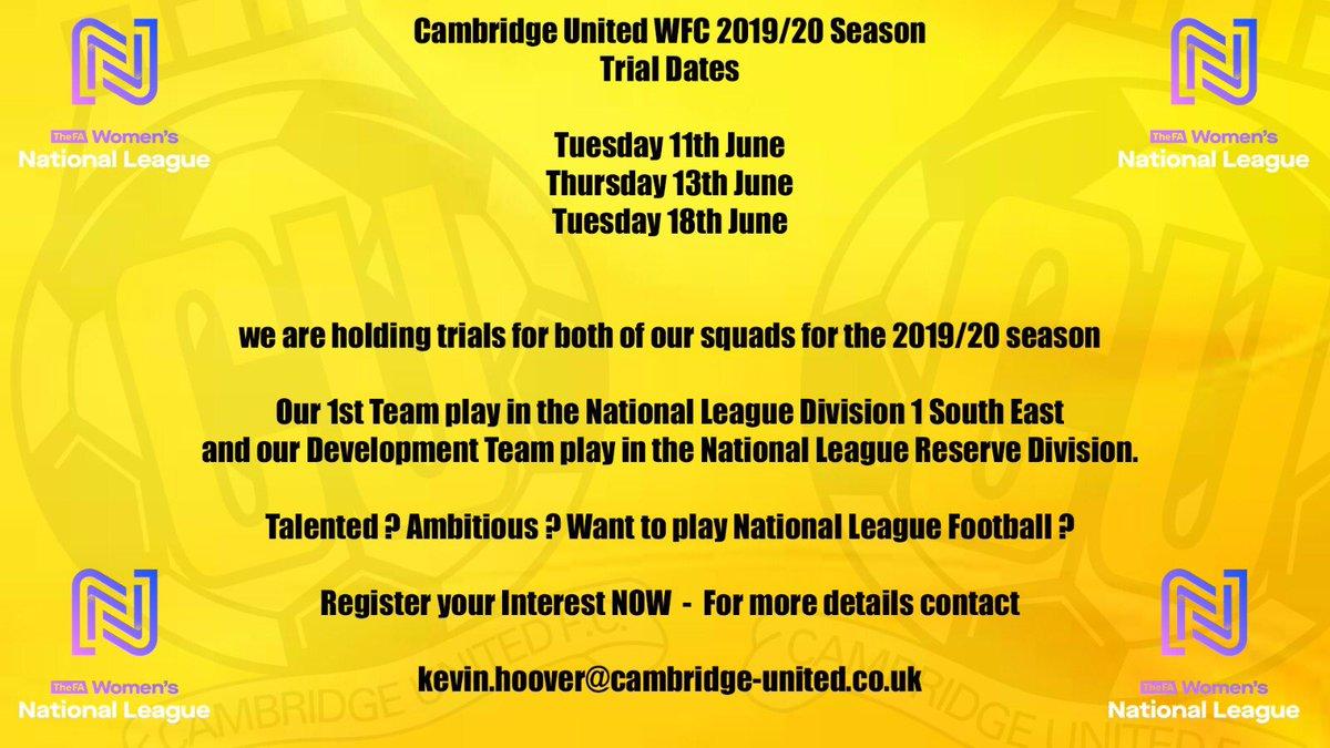 eb8e2a46c8a05 Cambridge United WFC ( CambridgeUtdWFC)