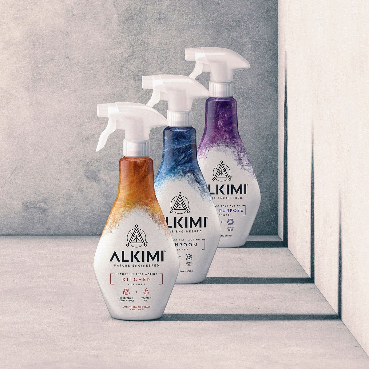 Our latest work to go live, the launch of a new non-toxic cleaning range for @ChallsOnline #branding #innovation #packagingdesign #alkimi