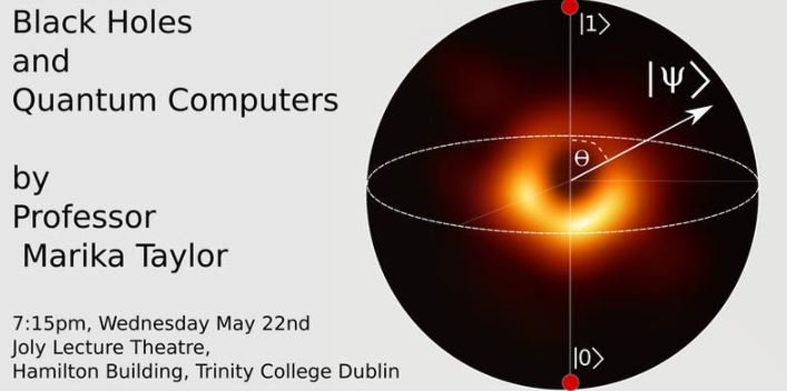 test Twitter Media - As part of IQF 2019 on 22 May, Prof. Marika Taylor will explain what #BlackHoles might teach us about #QuantumComputing and conversely, what quantum theory implies about the fundamental properties of black holes. Register at https://t.co/pVVazjHuwZ #DIASdiscovers https://t.co/JxwEWtDSUT