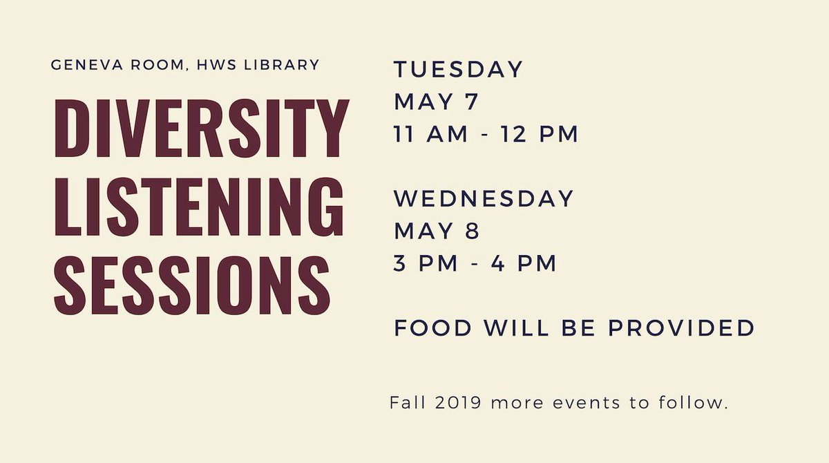 Diversity listening sessions scheduled at HWS campus after concerns raised publicly