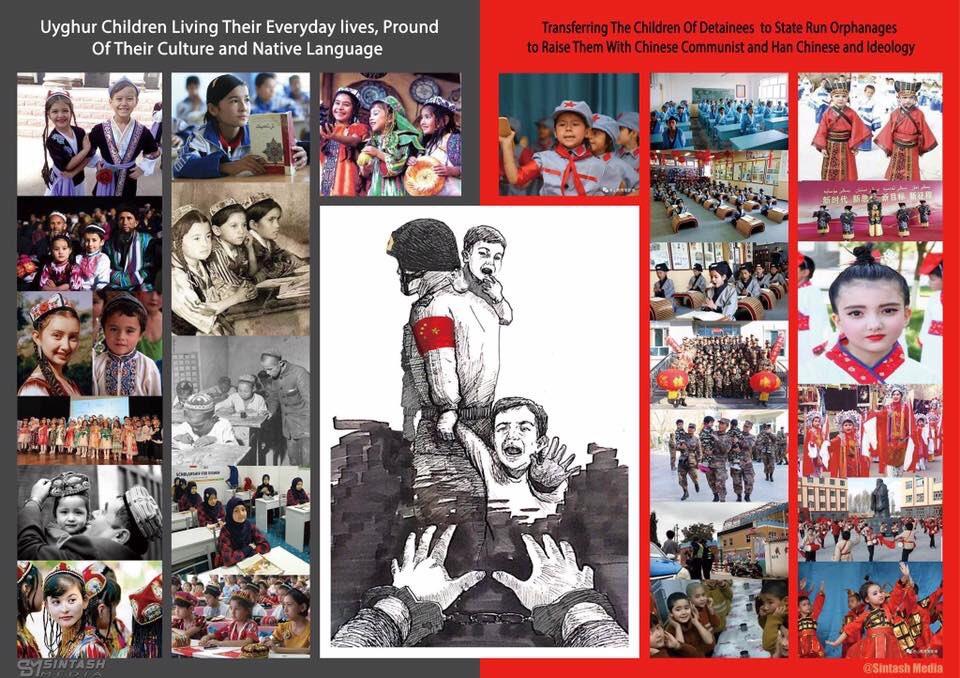 """Uygur Haber no Twitter: """"#DoğuTürkistan'da milyonlarca Türk tutuklu,  yüzbinlerce çocuk kimsesiz ... Solda: Önceleri ebeveynleri tarafından  yetiştirilen Uygur çocukları ... Sağda: Bugün birçoğunun ebeveynleri  tutuklanmış olan, Çinliler tarafından ..."""