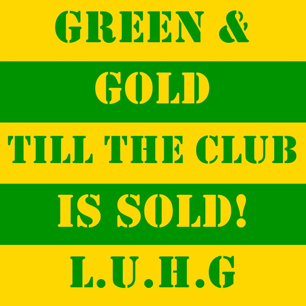 Green and Gold till the club is sold! #UnfollowManUnited  #MUFC #LUHG #GlazersOUT #EdWoodwardOUT LOVE UNITED, HATE GLAZER!