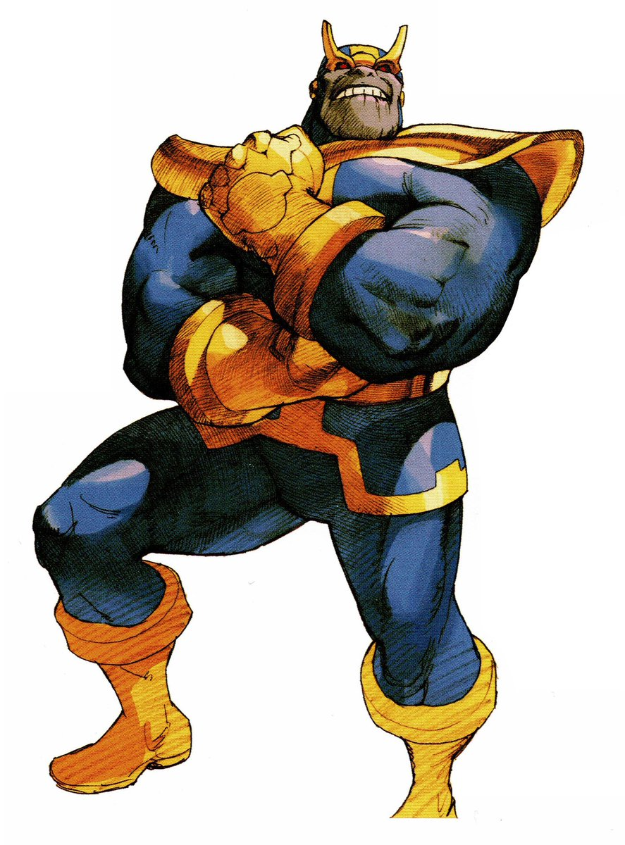 Thanos artwork from Marvel vs Capcom 2. <br>http://pic.twitter.com/ElFVzUi9xv