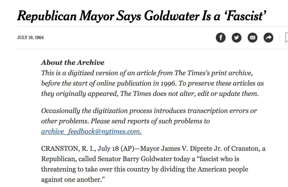 """David Austin Walsh on Twitter: """"This is actually a really, *REALLY*  important point. One of the things that people forget about Hillary Clinton  is that she was a Goldwater backer in 1964."""