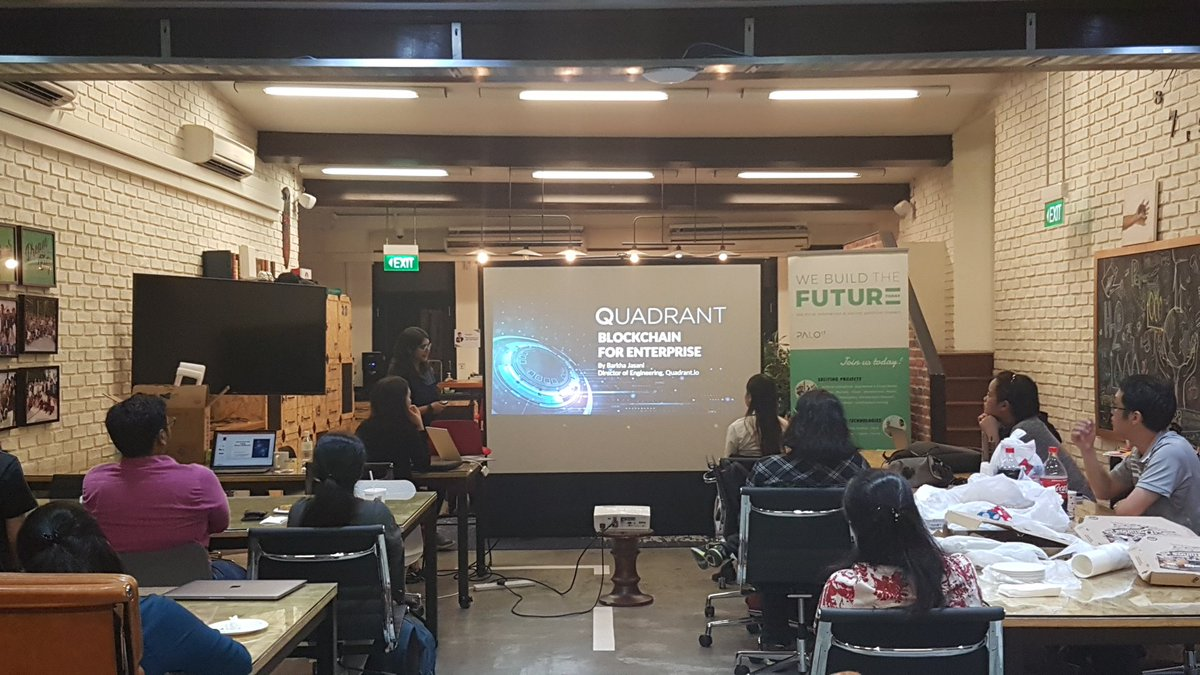 An intense talk by @barkha_jasani on basics of Blockchain, data economy issues and how to use blockchain for data authenticity. #WWCode<br>http://pic.twitter.com/vLzgDWg9gI