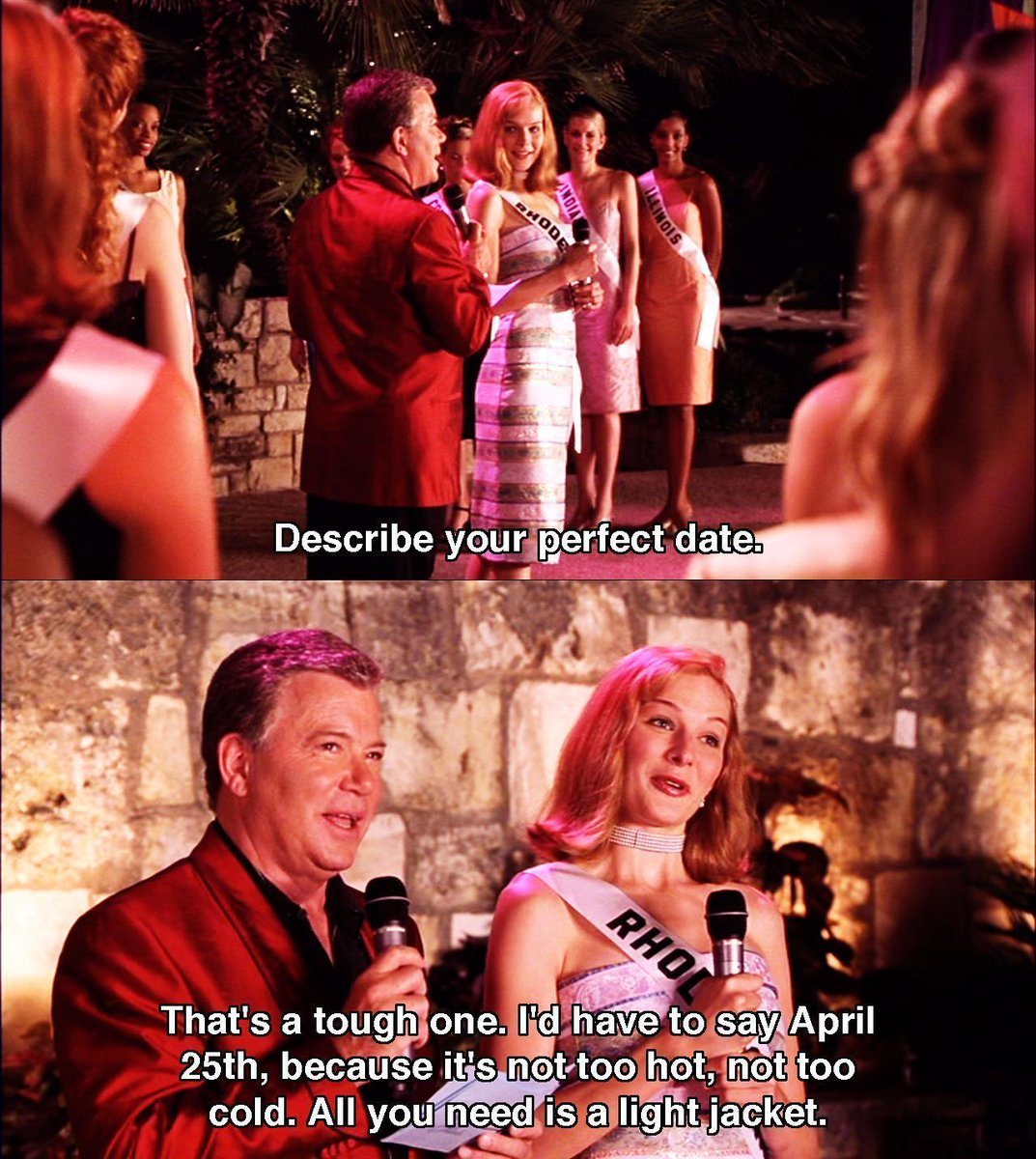 April 25th. The perfect date.  @WilliamShatner