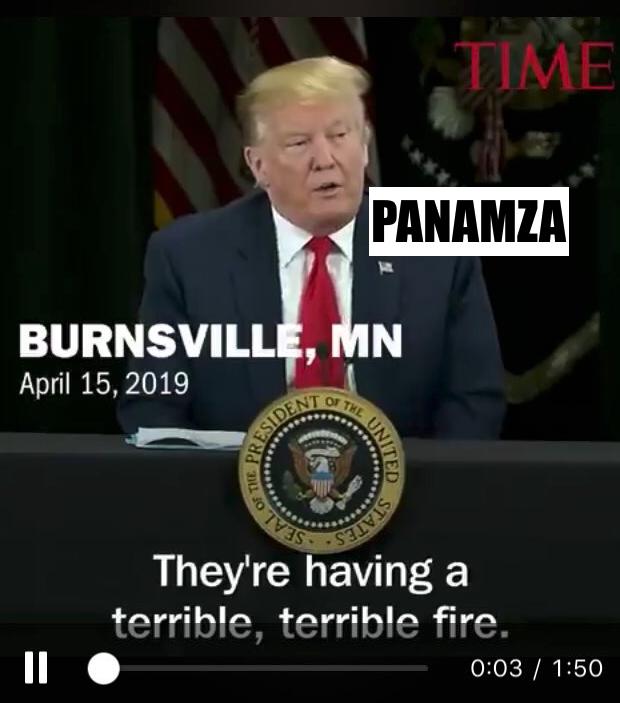 Trump annonça la destruction totale de Notre-Dame depuis Burnsville