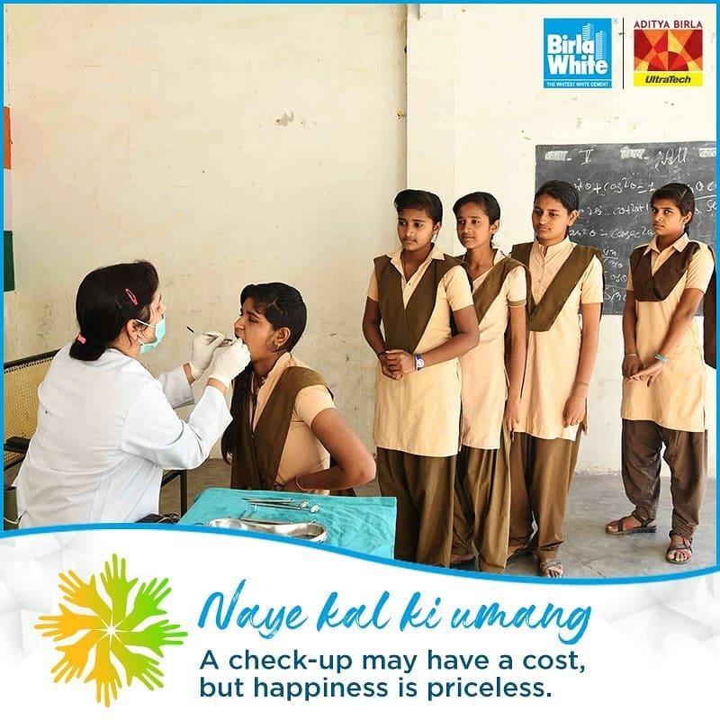 Birla White organized dental camps in Government schools