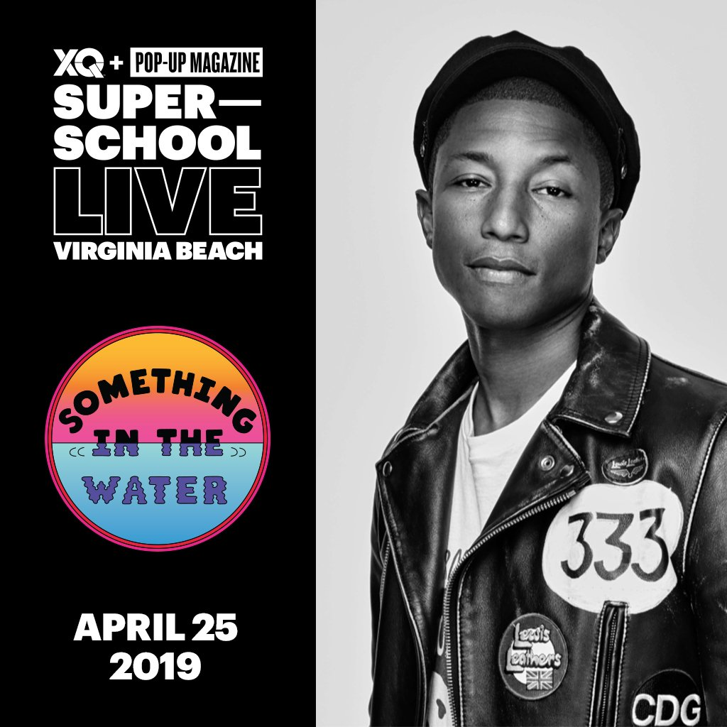 We'll be at the last #XQLive show tonight in Virginia Beach! @XQAmerica @pharrell & @PopUpMag are celebrating the heroes transforming America's high schools! #SITWFest