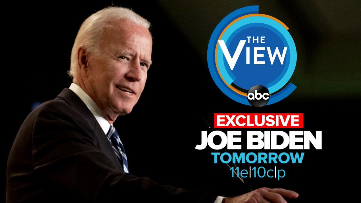Thrilled that Vice President @JoeBiden will be giving his first exclusive interview since announcing his run for President with us @TheView table tomorrow morning. It's no secret of my love and friendship with Joe - and I can't wait to talk to him tomorrow. <br>http://pic.twitter.com/zEbijrlqgL