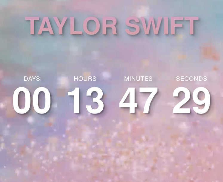 13 HOURS! THIRTEEN!! Kiddos we are almost there! *insert jumping up and down like a little kid excited for christmas*  @taylornation13<br>http://pic.twitter.com/3OsRMevl4i