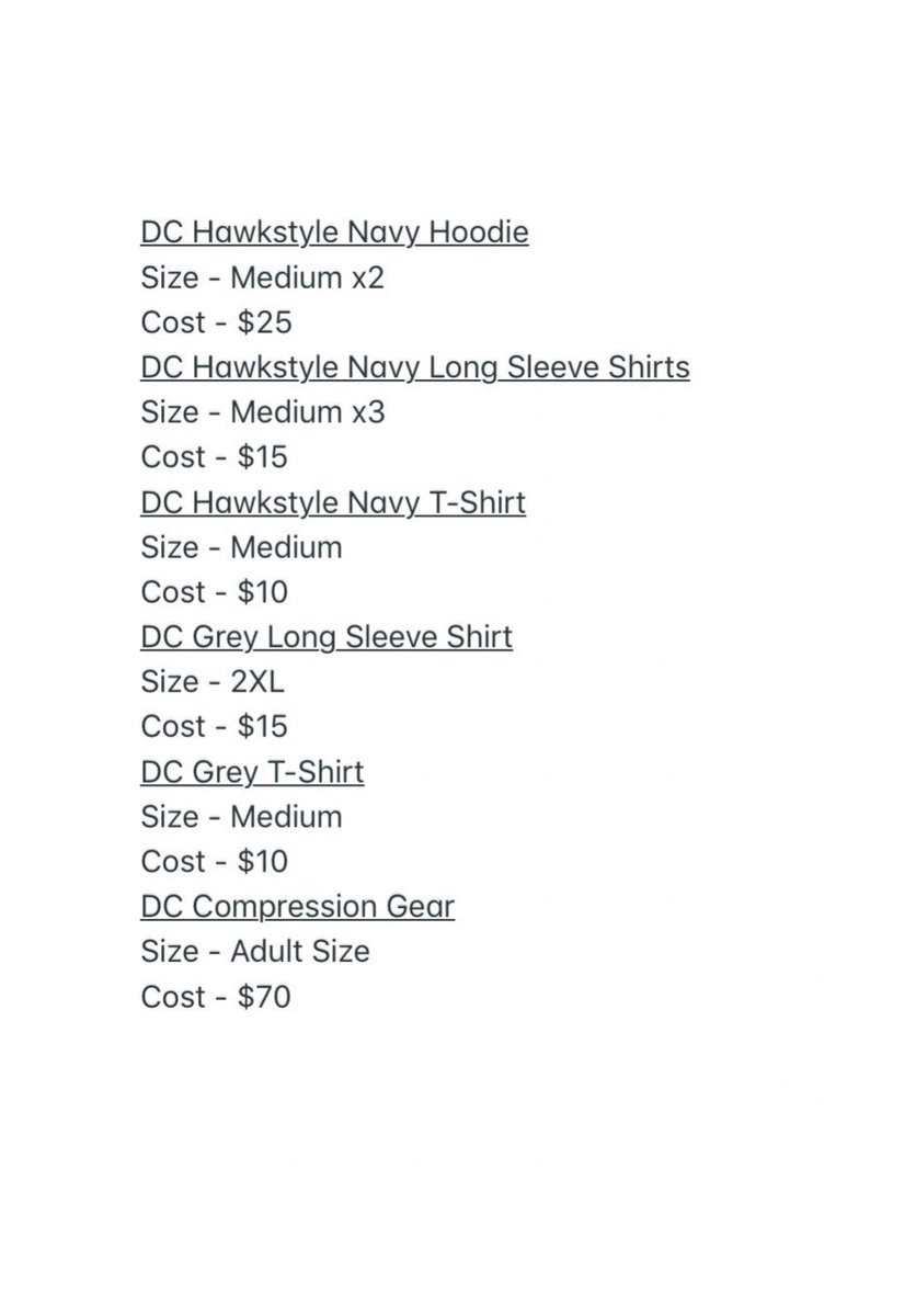 8f8211ac42d1b8 ... sale . The prices and description are listed below. If you are  interested in purchasing one please contact us at  DCHawksWrestling gmail.com.