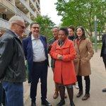 J'ai reçu @DavidKimelfeld à Vaulx-en-Velin, en présence d'@Anissa_Khedher, pour un point d'étape sur les travaux de la rue de la République et une rencontre avec des acteurs participant au dynamisme de la Ville et de @grandlyon : conseil des seniors, associations, commerçants ...