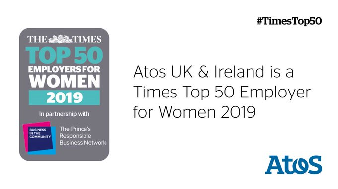 Very proud to be named one of the #TimesTop50 Employers for Women in 2019...