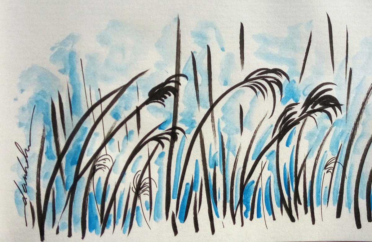 Reeds #dailyart #dailyillustration #reeds #nature #comicbookproject #marshes #artstudy #artresearch https://t.co/6Fd0R1uNan
