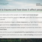 There's growing recognition of trauma, and the role institutions can play in perpetuating it.   But what is it - and how could a trauma-informed approach make a difference?  https://t.co/THwfZMxq2Z  #TraumaMH #MentalHealth #TraumaInformed
