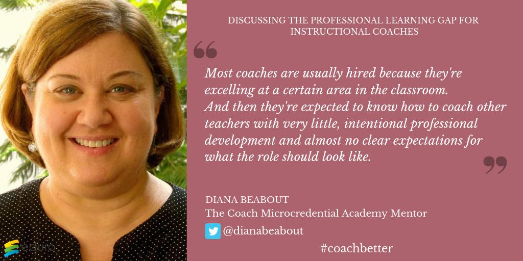There's a prof learning gap for #instructionalcoaches but @dianabeabout can help you overcome it as your mentor in The Coach Microcredential! Just TWO days left to join the 2019 cohort ⏳   https://edurolearning.lpages.co/coach/  #EduroLearning #isedcoach #educoach #edchat #educoachoc #profdev