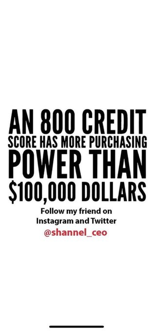 🚀CASH IS KING BUT CREDIT IS POWER!! Go follow @shannel_ceo on INSTAGRAM & TWITTER and DM her N