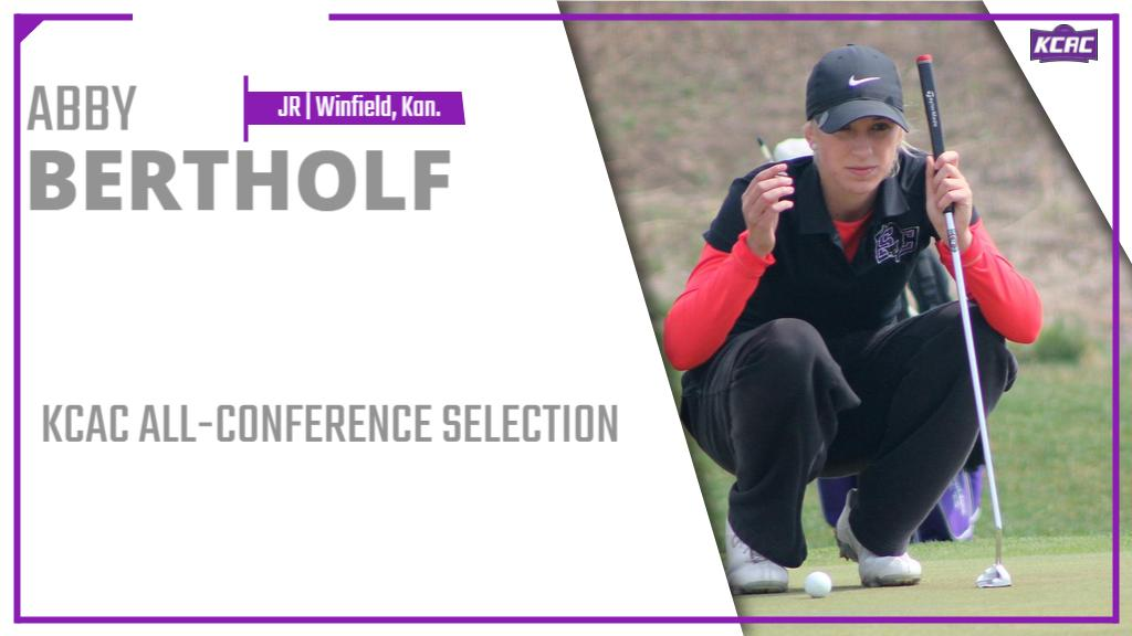 Congratulations to @buildergolf's Abby Bertholf for concluding the 2018-19 season as a member of the KCAC All-Conference Team!