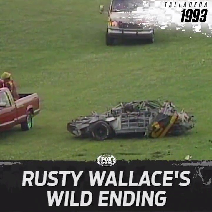 Rusty Wallaces wild Talladega wreck from 1993 is still one of the most violent crashes in NASCAR history.