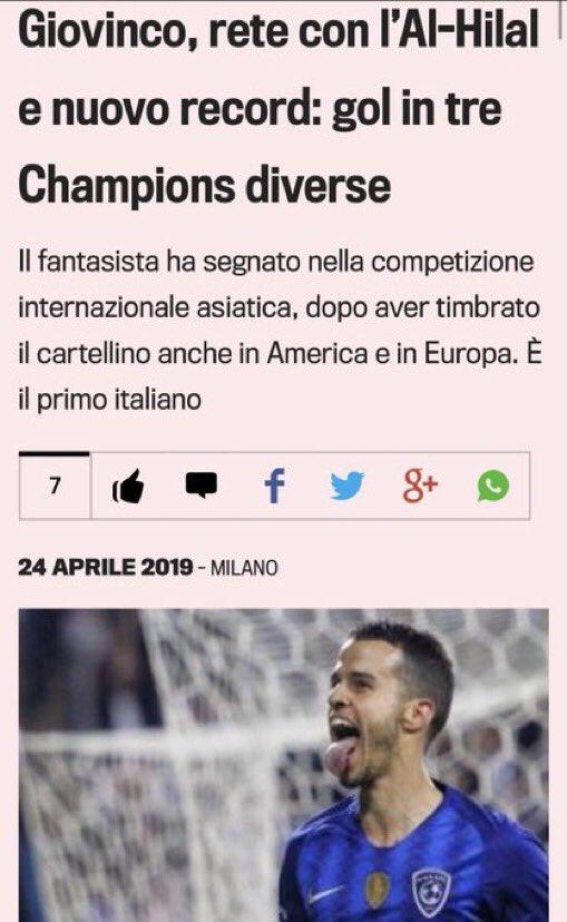 صحيفة Lgazzetta الشهيره: سيباستيان جوفينكو فعل أمر لم يفعله أحد مسبقا في إيطاليا وهو أنه سجل في ثلاث بطولات قارية مختلفة: أوروبا - أمريكا - أسيا.