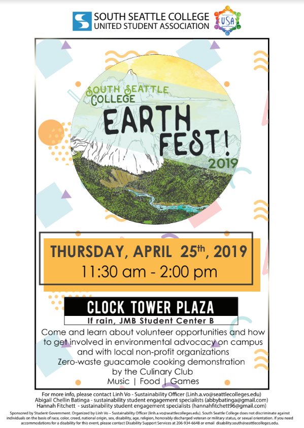 Image result for Earth Fest at South Seattle College 2019