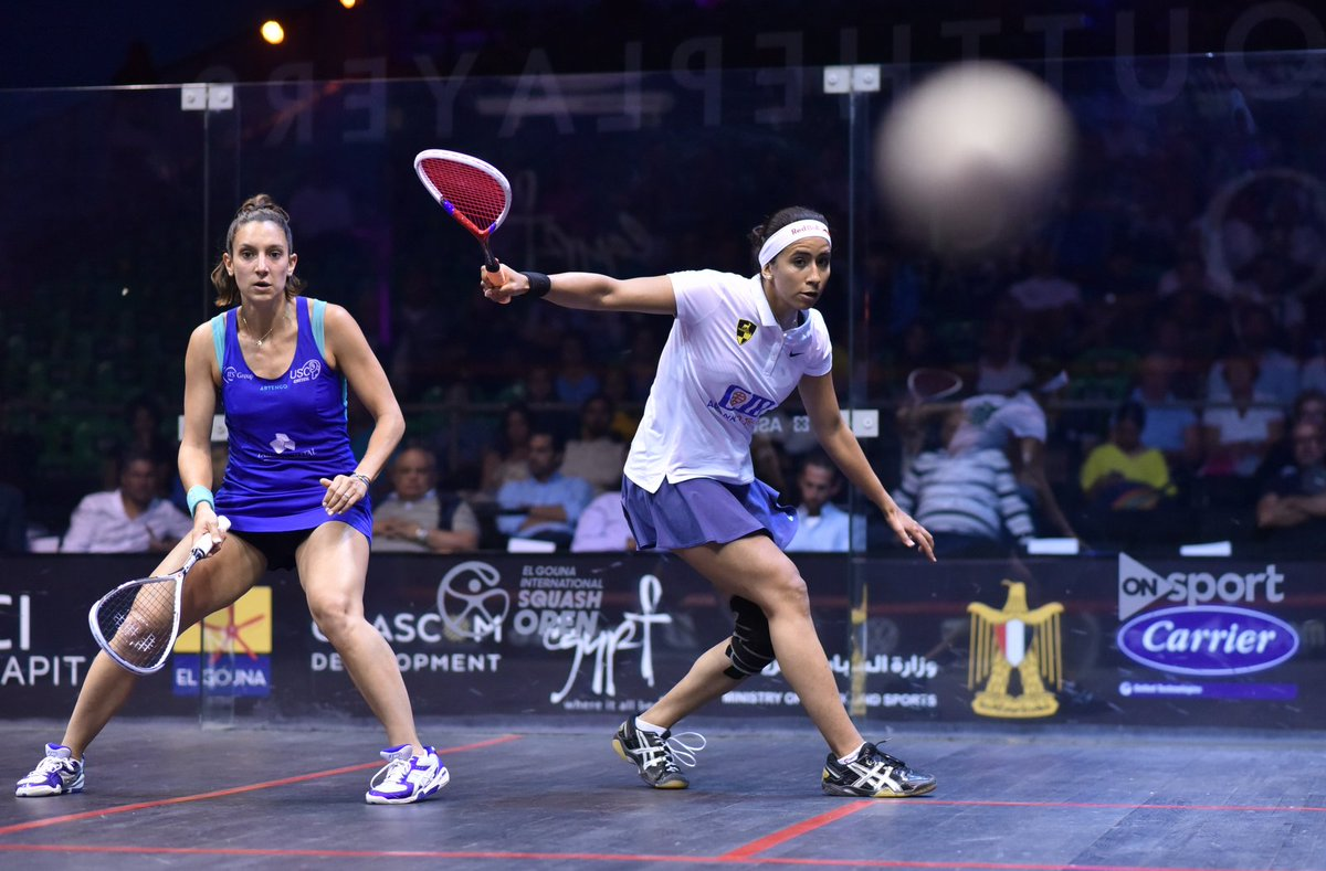 """test Twitter Media - 🗣 """"I am feeling very happy right now, I cannot express what I feel at the moment. It's my first final since 2016, but more importantly, I'm playing well again.""""  @nourangohar beat @CamilleSerme to reach the @ElGounaSquash final!  Read about it here 👇 https://t.co/5aQy26yLE3 https://t.co/usSIik0p0g"""