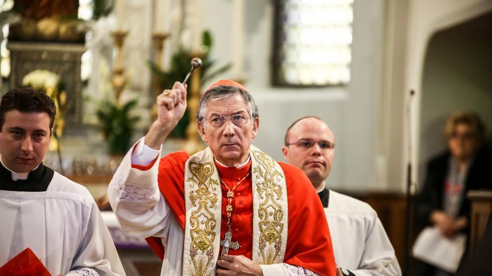 San Marco, il patriarca di Venezia omaggia l'evang...
