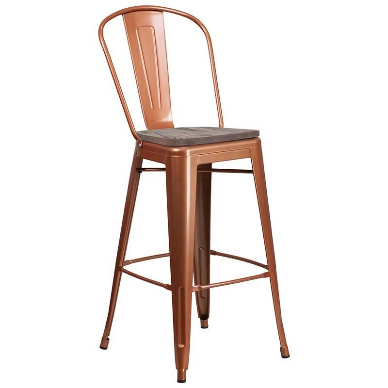 https://bayfurnishings.com/product/30-high-copper-metal-barstool-with-back-and-wood-seat/… Copper is the new wave - this barstool with a wooden seat has an edgy look that will fit in any environment. #bayfurnishings #furnituredesign #furniture #BarstoolBestBar #BarstoolChamps #barstooljoeblacks