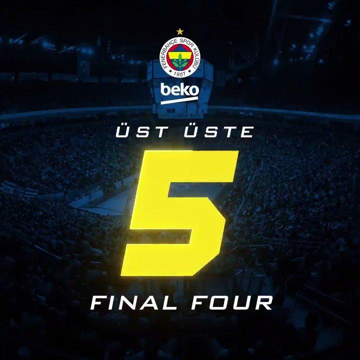 Dünyanın En Güzel Takımı yine ait olduğu yerde, üst üste 5. kez Final Fourda! 💙