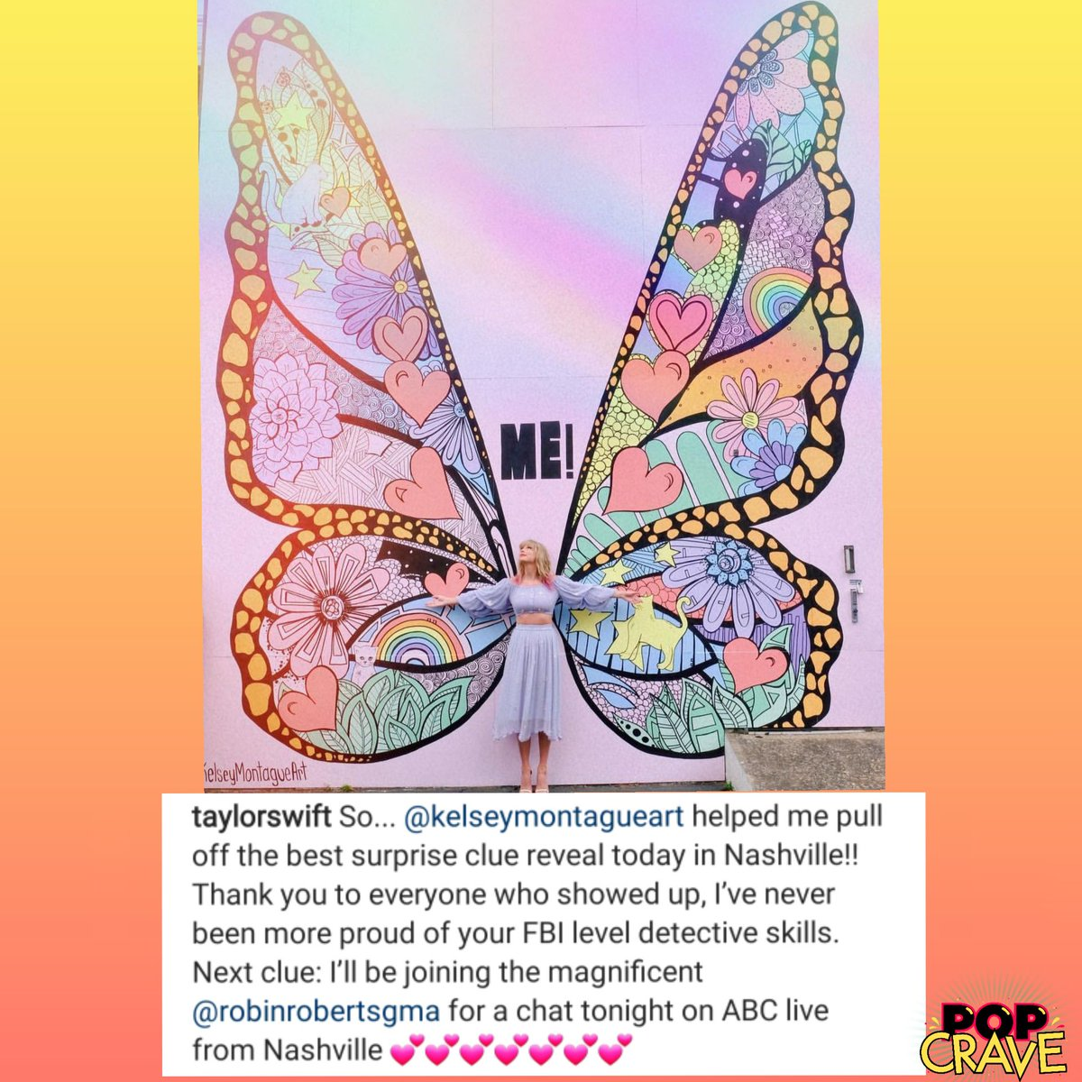 Pop Crave's photo on #TaylorSwiftTONIGHT