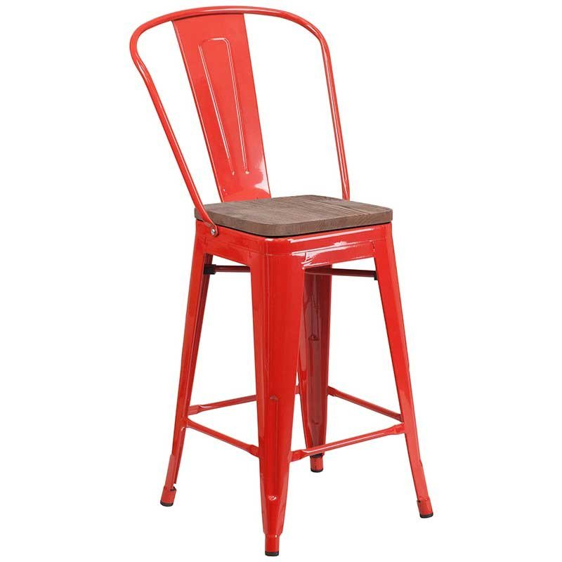 https://bayfurnishings.com/product/24-high-red-metal-counter-height-stool-with-back-and-wood-seat/… If vibrant red is your thing, this counter height chair with the natural wood seat will mix it up and bring a fresh look to your space! #bayfurnishings #furniture #furnituredesign #BarstoolBestBar #BarstoolBestBar #bargains #BarstoolChamps