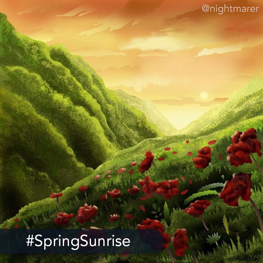 👑 The challenge: Today's #medium #challenge is to express the #beauty of #nature through art and portray a beautiful #spring #sunrise. ❤️ Start coloring today on your iPhone or iPad: http://get.colortherapy.me #color #coloring #coloringbook