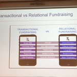 Image for the Tweet beginning: Transactional vs relational in fundraising