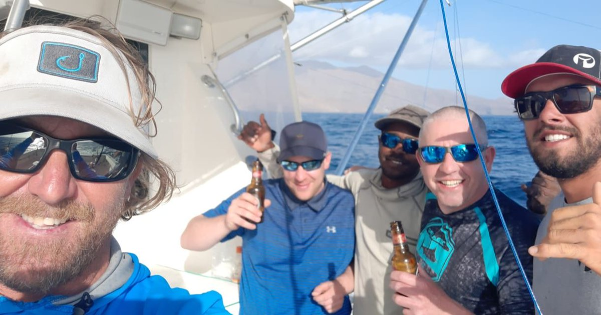 Cape Verdes - Capt. Marty Bates on La Onda Mila released a Blue Marlin (600).