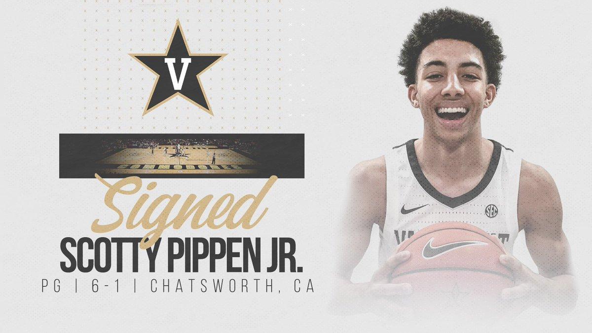 Commodore Nation, please welcome Scotty Pippen, Jr. (@spippenjr) to the Vanderbilt Basketball family!  #AnchorDown  #MemorialMagic  http://vanderbi.lt/y8t2j