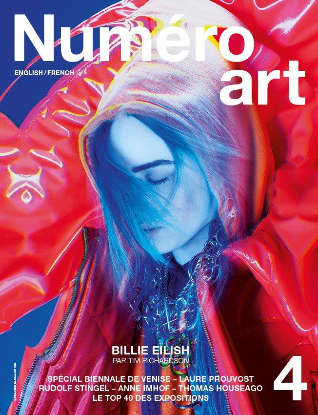 Billie covers @NumeroMagazine. Watch the video by Tim Richardson. https://www.numero.com/fr/art/billie-eilish-video-tim-richardson-amir-zia-numero-art-bury-a-friend-new-lights-films-antibody…