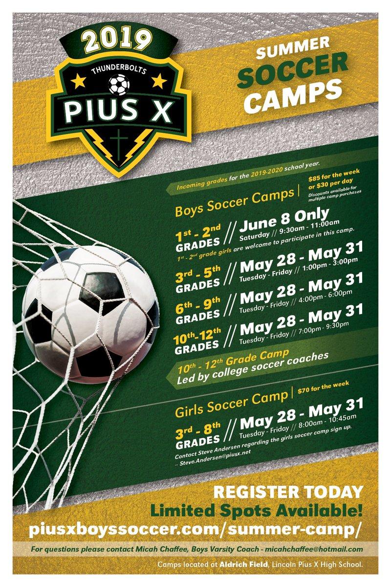 Soccer Camps Summer 2020.Pius X Soccer Piusxsoccer Twitter