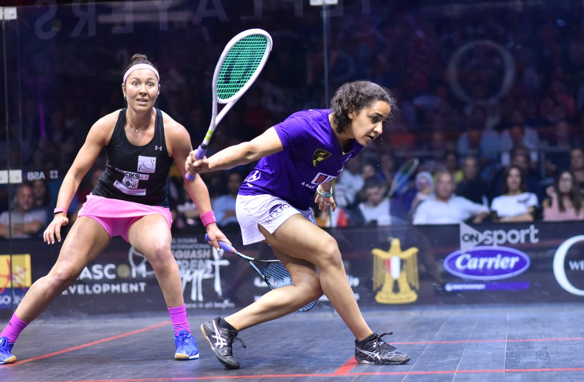 test Twitter Media - World No.1 @RaneemElWelily booked her place in the final of @ElGounaSquash after a straight games win over @itssobhytime   Read all about it, and the rest of tonight's action here 👇 https://t.co/5aQy26yLE3 https://t.co/SIlYSiawA1