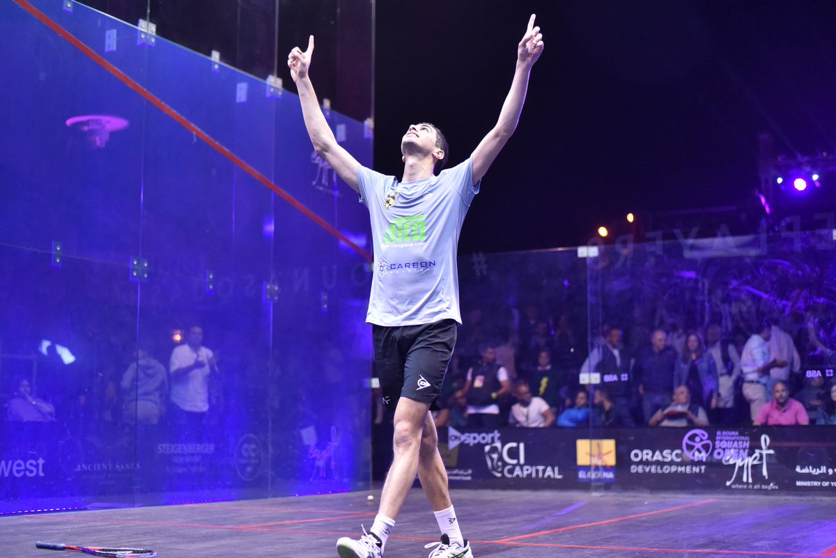 test Twitter Media - You can't keep @AliFarag down!  The World No.1 came back from two games down against @TkMomen to earn his spot in a second successive @ElGounaSquash final 🏆  More ➡️ https://t.co/SGvLDjxjQQ #squash https://t.co/34CnVq6e3V