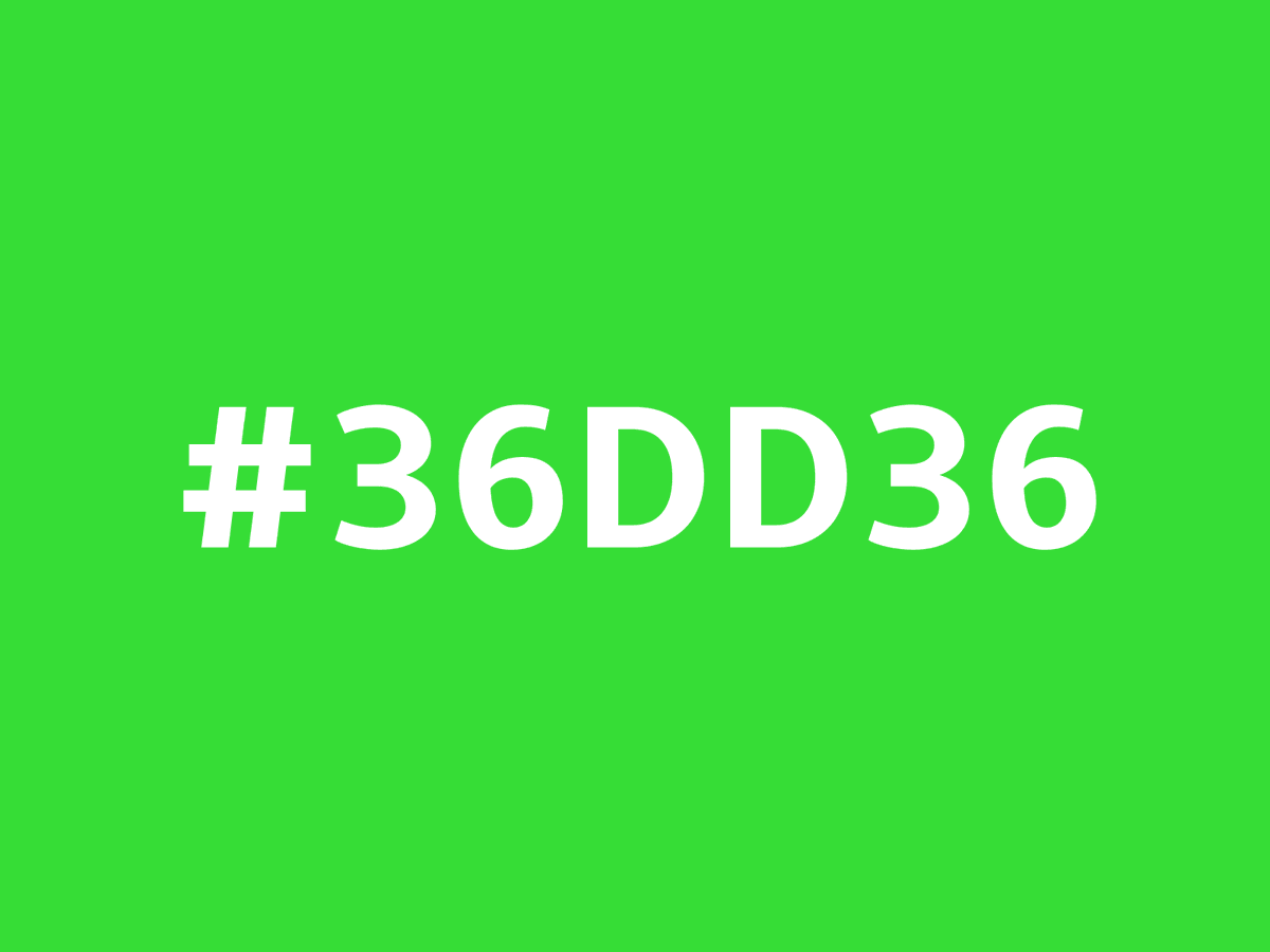 #36DD36, this #hex #color can be described as dark muted green. https://t.co/ydzRvkbze8 https://t.co/Ea92087Z1C