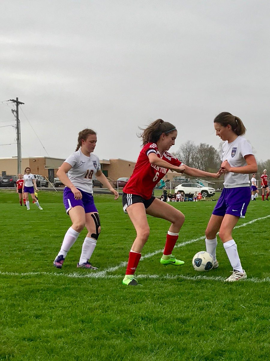 Sky Chandler scored in our 1-1 tie game against Blissfield.