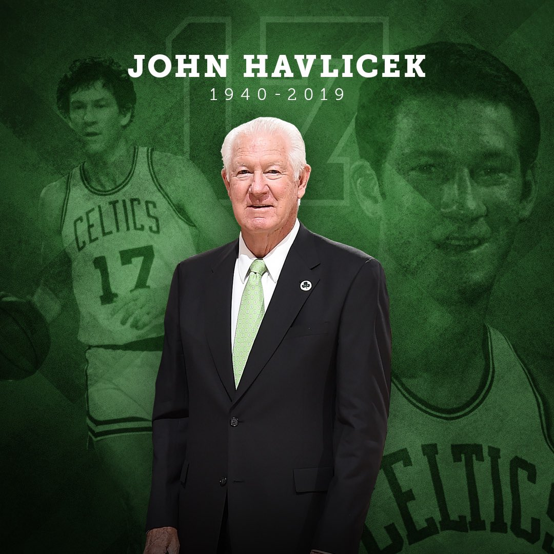 It is with great sadness we have learned that Celtics Legend and Hall of Famer John Havlicek has passed away peacefully today at the age of 79. He will be dearly missed by his Celtics family.   A statement from the Celtics: https://on.nba.com/2ZBAy7S