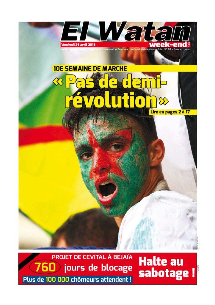 """Les Algériens dans la rue pour un 10e vendredi de mobilisation contre """"le système"""""""
