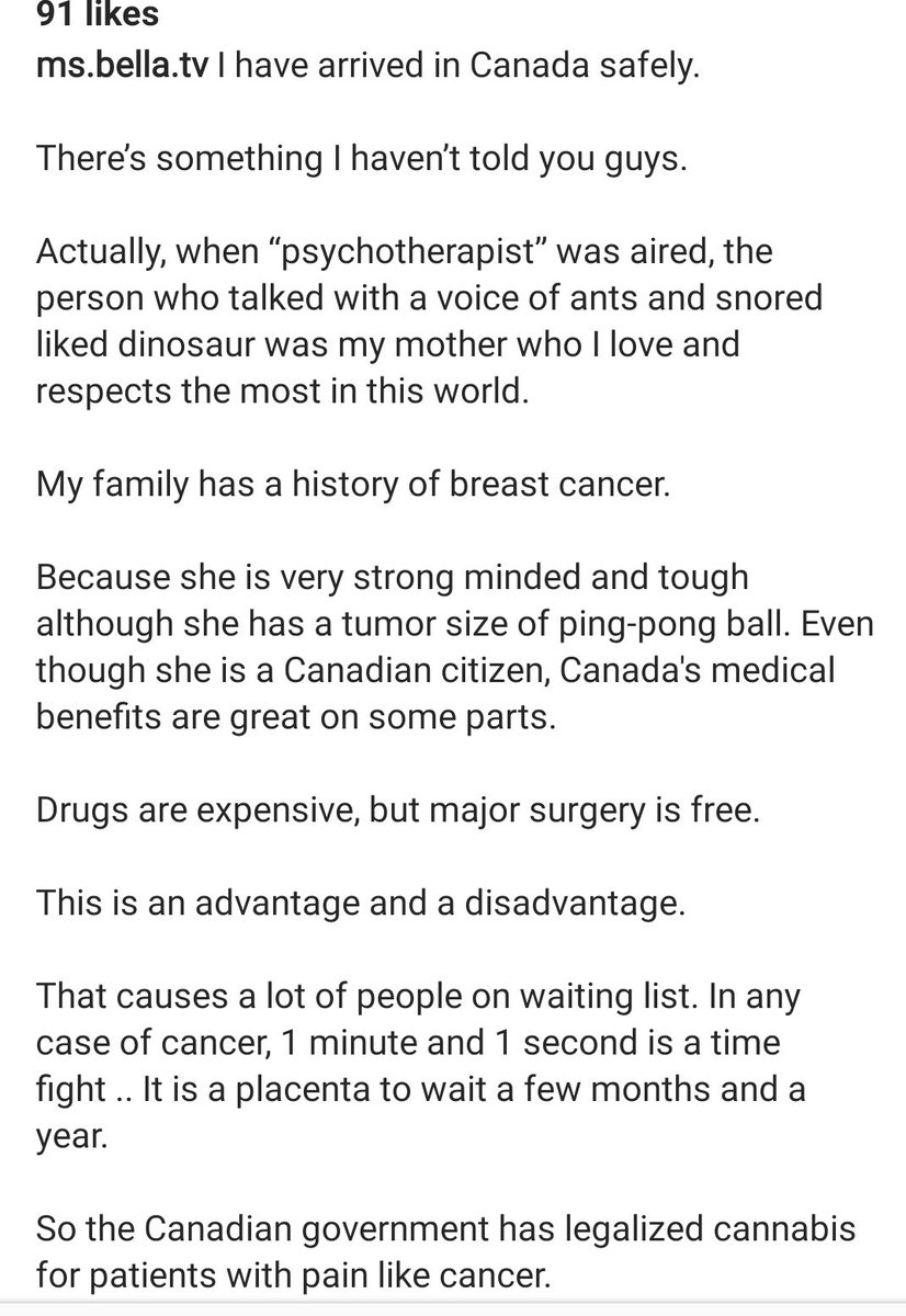 Yoon Ji Oh explains why her mother has to travel between Canada and Korea for cancer treatment. She gave her bodyguard to her mom because she couldn't stay in the same room with her in SK hospital. Despite not using a credit card, media tracked them and stalked their movements. https://t.co/Ls2a70RZfx