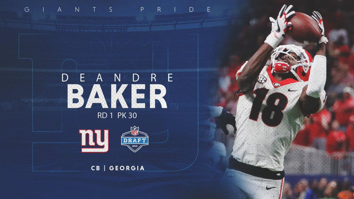 New York Giants's photo on Deandre Baker