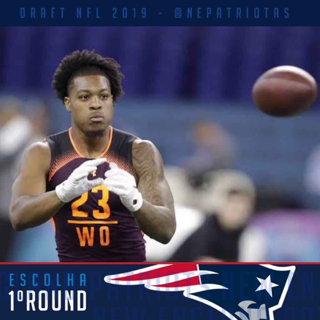 c9aac7ca0 ... o New England Patriots selecionou o WR N Keal Harry de Arizona State.  Fiquem ligados q já publicaremos a nossa opinião sobre a escolha.