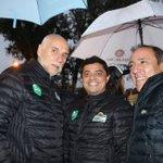 Image for the Tweet beginning: Con Julio y Miguel, en