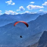 Image for the Tweet beginning: Go paragliding at #Manali for