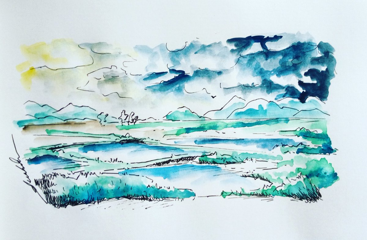 Marshes #dailyart #dailyillustration #marshes #swamp #nature #comicbookproject https://t.co/wpu0rznEEG